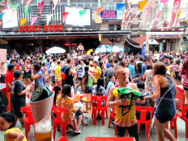 Songkran on Khao San Road