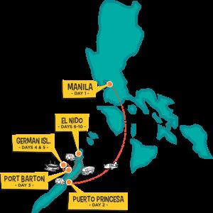 one life adventures philippines trip backpacker el nido palawan map itinerary