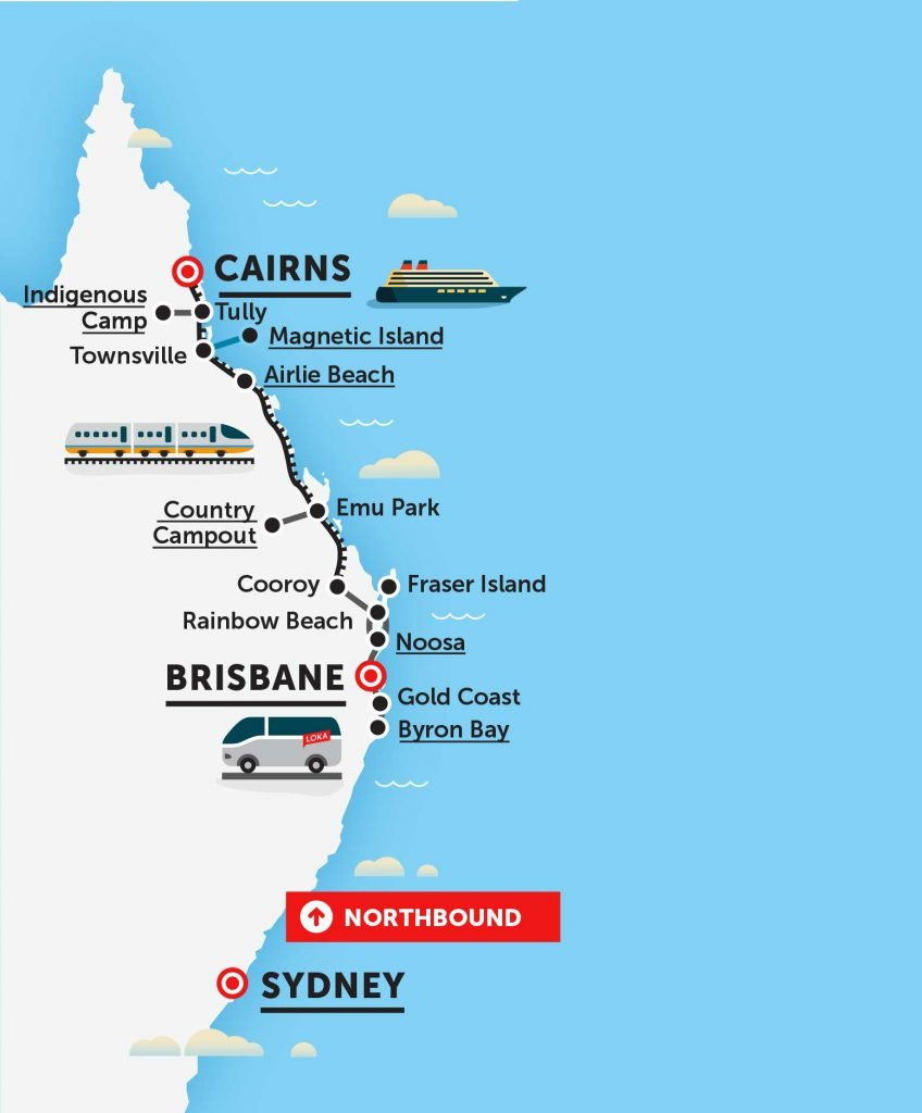 loka travel bus pass kat pass sydney cairns east coast australia