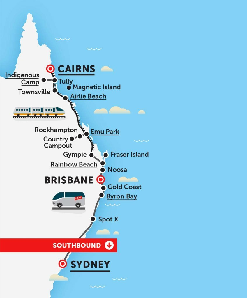 loka travel bus pass trev pass sydney cairns east coast australia