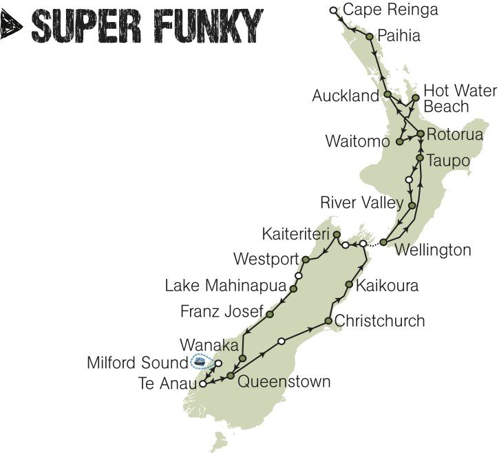 kiwi experience bus pass super funky new zealand rtw backpackers