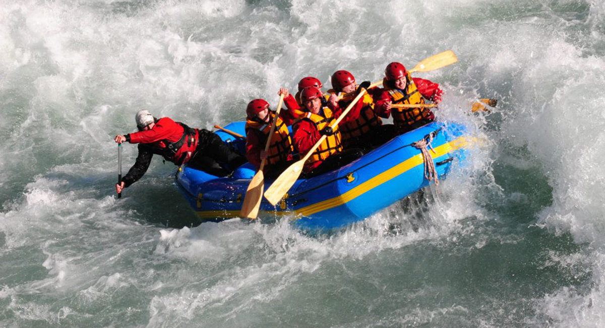 White Water Rafting In North Island Of New Zealand