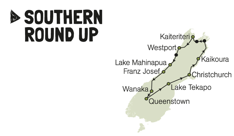 kiwi experience southern round up bus pass new zealand backpacker