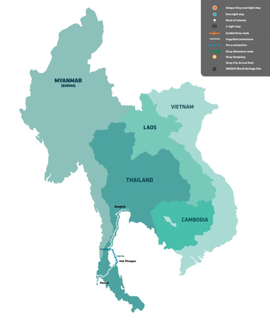 stray asia bucket pass thailand bangkok koh tao koh phangan backpacker