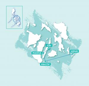 TruTravels philippines east group tour adventure cebu siargao backpacker