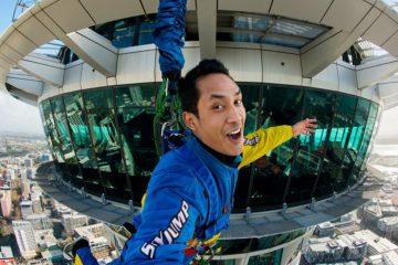 auckland sky jump skytower new zealand nz aj hackett