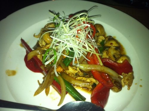 Thai Dish - chicken with capsicum