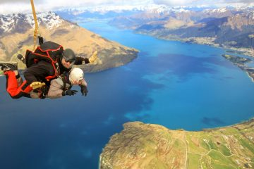 tandem skydive queenstown nzone new zealand south island