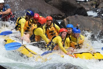white water rafting tully river raging thunder australia cairns