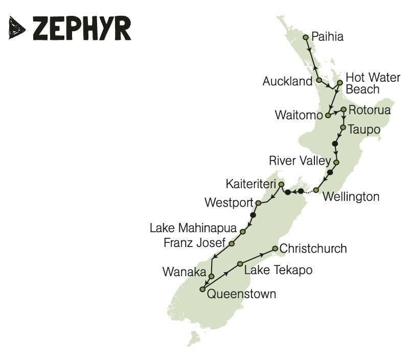kiwi experience bus pass zephyr new zealand rtw backpackers