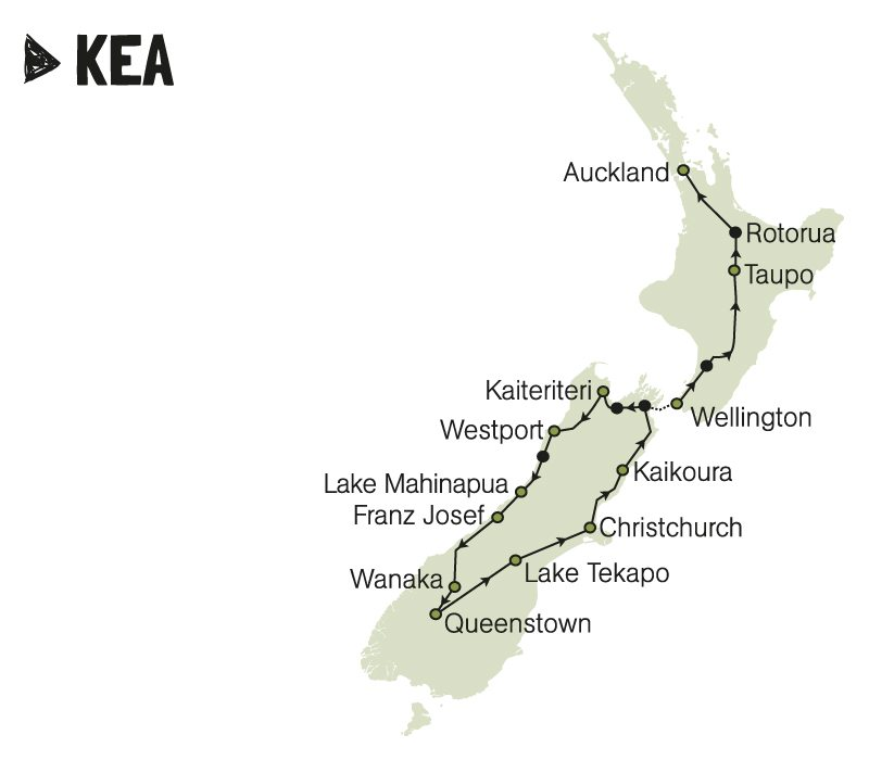 kiwi experience kea bus pass new zealand backpacker