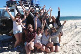 nomads fraser island tour noosa tipi camping backpacker