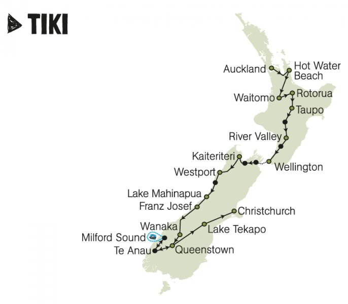 kiwi experience tiki pass bus hop on hop off new zealand backpacker travel north island south island