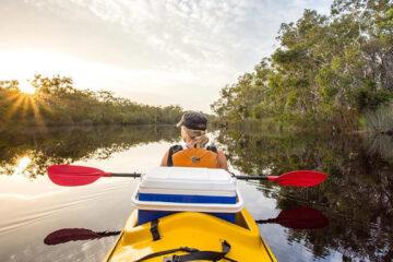 kanu kapers noosa everglades canoe kayak tour queensland australia east coast backpacker
